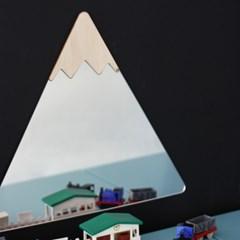 눈 내리는 산과 구름 3P 세트 디자인 거울