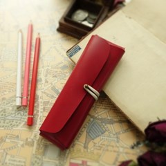 Pencil Case_Cross Folding Deluxe [Gaudy Scarlet]