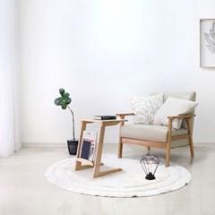 [벤트리] 원목 소파 사이드 테이블 550