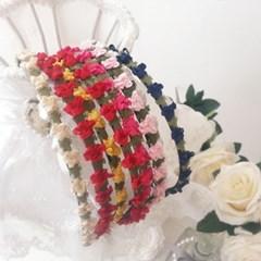 [우아한 공방] 봄날의 꽃 헤어밴드(7colors)