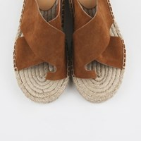 Toe suede slipper