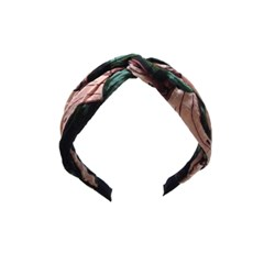 linen banana hairband (pink)