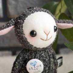 양말인형 회색 양 삑삑이 아기 안다