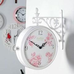 로맨틱 플라워 양면시계