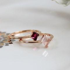 로돌라이트 가넷 웰 반지(1월탄생석)rhodolite garnet well ring