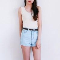 Roll-up high short pants
