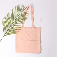 [살랑]Rosette Flap Pocket bag cream beige