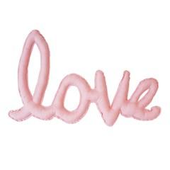 {린넨러브가랜드}Linen LOVE Cushion Garland_피치핑크
