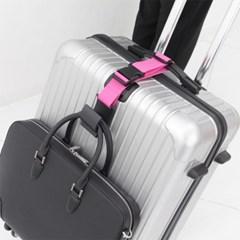 [TCUBE] 국내생산 여행가방 컬러 보조벨트 - 2BAGS