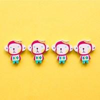 바나나 원숭이 나무비즈 5p