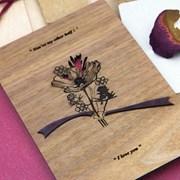 핸드메이드 꽃 같은 사랑 우드 카드