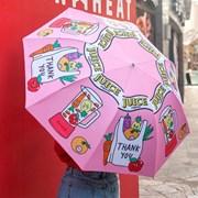 카툰 3단자동 우양산