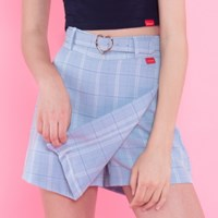 Heart check wrap skirt pants (3colors)