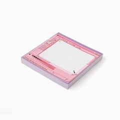 pink painter memo pad