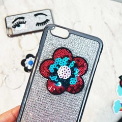 양귀비 꽃 와펜스티커