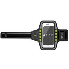 4.7-5.1형 스마트폰 LED라이트 유니버셜 스포츠암밴드_(412979)