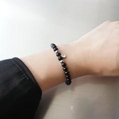 별자리+이니셜 각인 오닉스 팔찌
