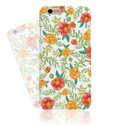 WATERCOLOR RED YELLOW FLORAL HARD CASE