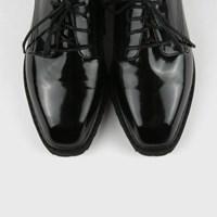 Bold enamel black loafer
