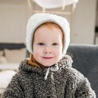 [CTH MINI] 에스더 주니어 컬즈 화이트그레이 아기보넷