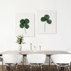 캔버스 북유럽 식물 인테리어 액자 네잎 클로버 행운