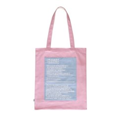 screen half eco bag (white/pink)