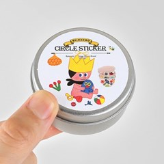 Circle Sticker Tin-10 Child [GoolyGooly]