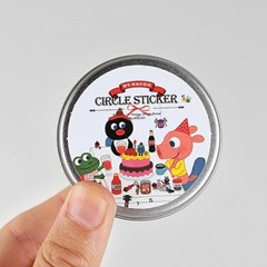 Circle Sticker Tin-09 Friends [GoolyGooly]