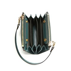 Ane TWIN ZIP MULTI WALLET-MINI BAG_GREEN