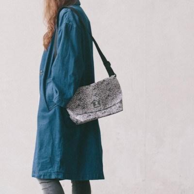 mini cross bag black paisley