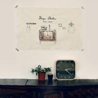 [Fabric] 가로형 수채화 3 Cut 일러스트 컷트지_ My Room