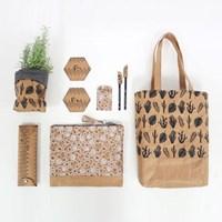 [Fabric] 네추럴 모노 크라프트 종이원단 커트지 (택1)