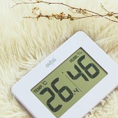에바 큰화면 심플 온습도계-화이트 O-200WT