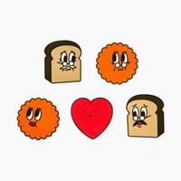 과자전 Love&Thanks 과자가족 스티커 세트