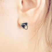 CELLA Cell Silver Triangle Earrings
