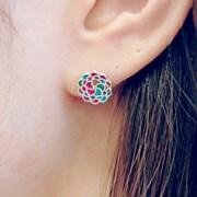 FLOS Flower Color Earrings 01