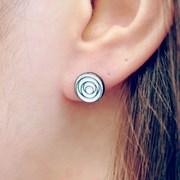 FLOS Flower Black & White Earrings 03