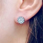 FLOS Flower Black & White Earrings 01