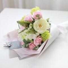 사랑해요 연핑크 비누장미 꽃다발(기획특가)_(410451)