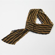 Cream Pleats Tie Scarf