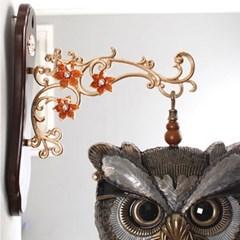 부엉이 엔틱 양면시계-황동색
