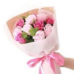 비누장미 11송이 꽃다발 (핑크)_(412542)