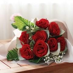 한아름 레드장미 꽃다발 돈다발_(412539)
