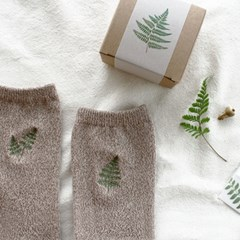 embroidery socks_fern