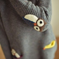 [5칼라]포켓 부엉이 스웨터