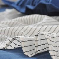 Jalan-Jalan blanket navy stripe