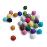 2.2cm 펠트볼(5ea)/66colors_(473760)