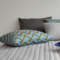 summer pillow cover  mustard sky