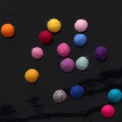 1cm 펠트볼(5ea) 72colors