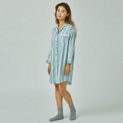 Mint stripe PJ dress _ 민트스트라이프 파자마 원피스